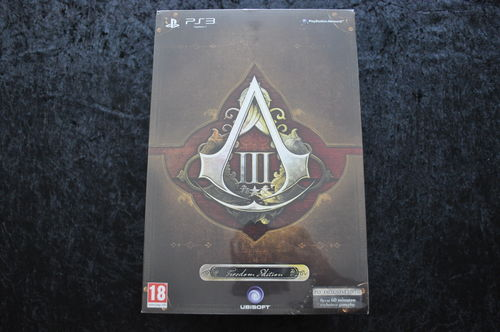 Assassins Assassin's Creed 3 III Freedom Edition Playstation 3 PS3 New Sealed
